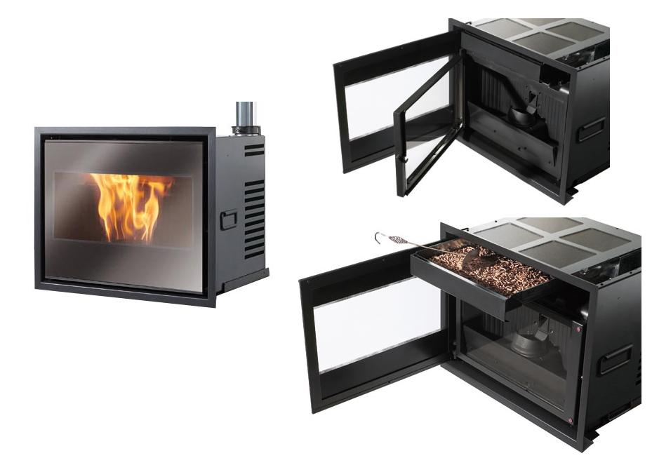 Calderas y estufas de biomasa solartel cija energ a for Chimeneas de pellets baratas